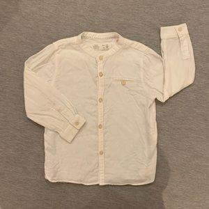 Zara linen-cotton white shirt 2-3 yrs